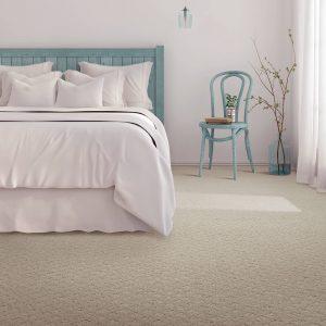White Carpet of bedroom | Price Flooring