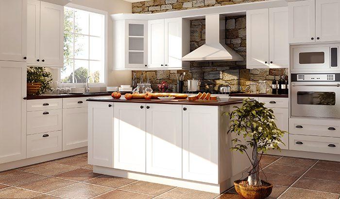 Kitchen white cabinets | Price Flooring