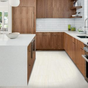 White Tile in kitchen | Price Flooring
