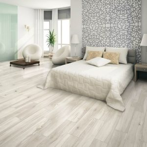 Bedroom white tile flooring | Price Flooring