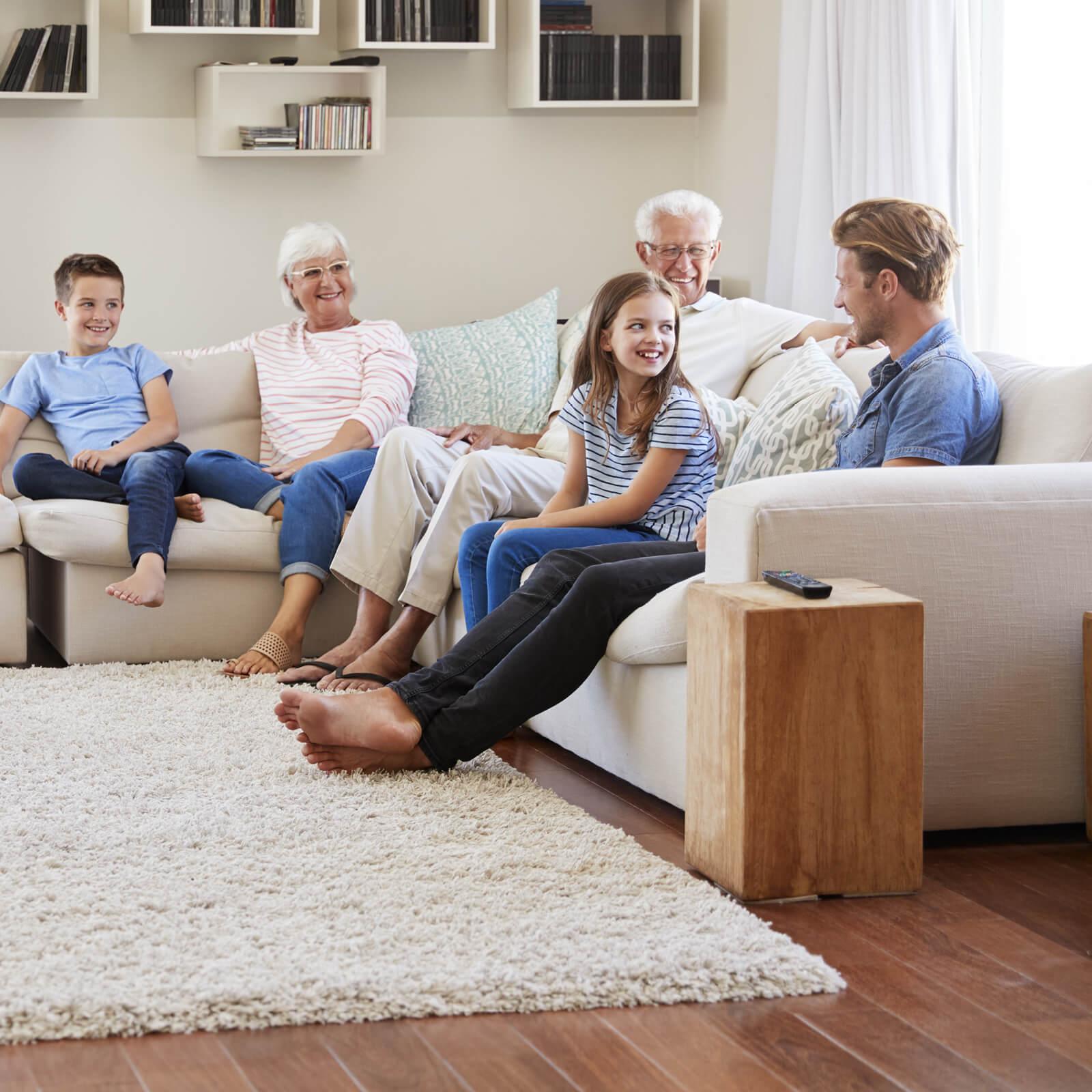 Family on countertops   Price Flooring
