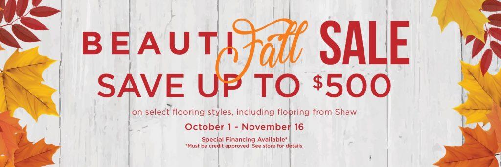 Beautyfall sale banner | Price Flooring