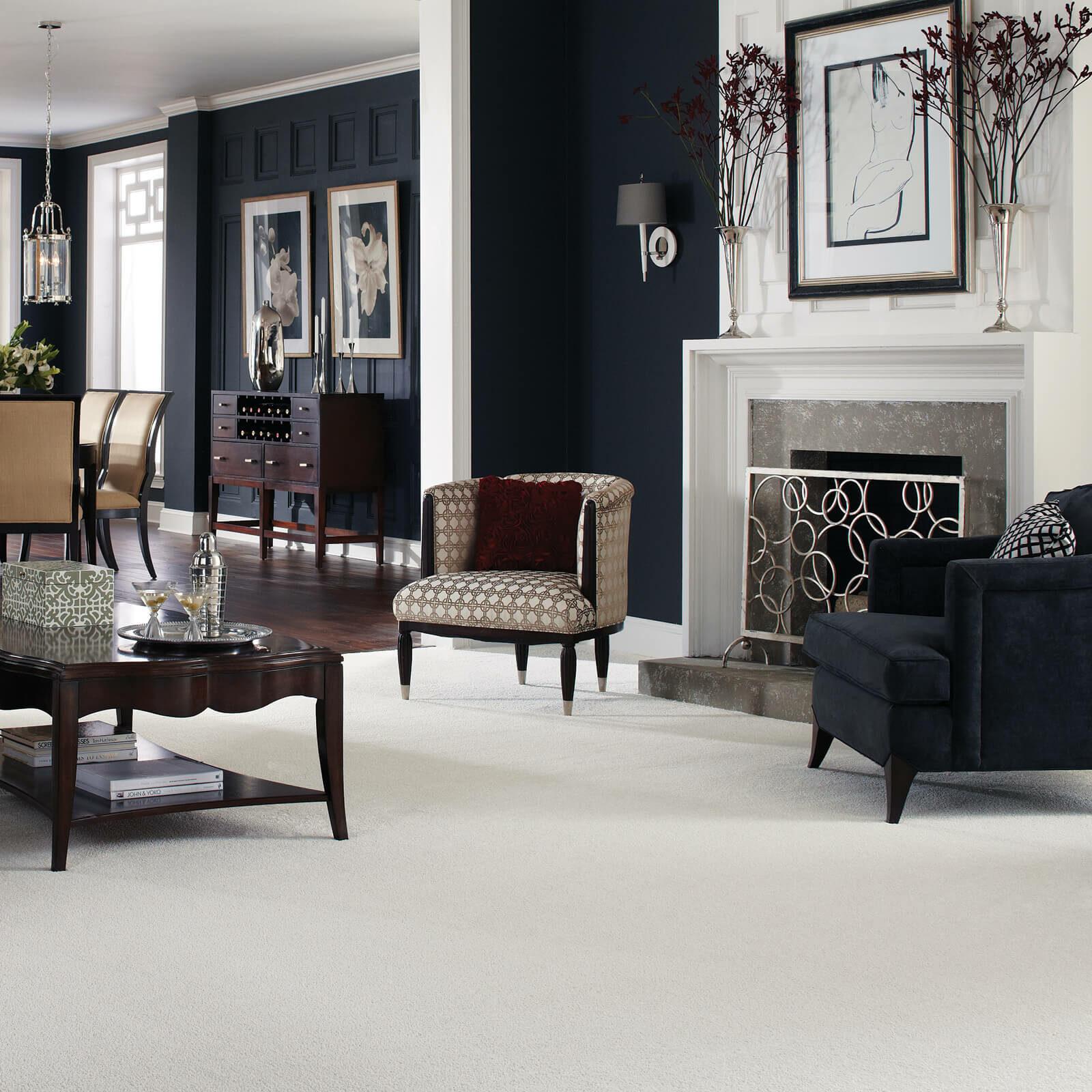 White Carpet in Living room | Price Flooring